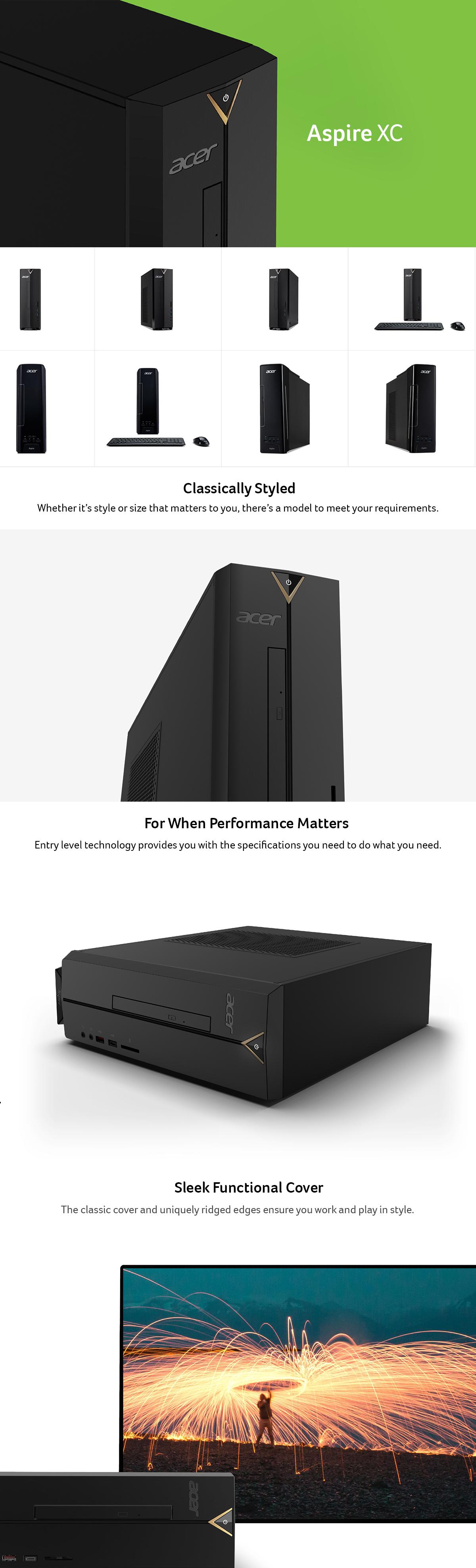 Acer Aspire Celeron N3050 (1.60 GHz) 4 GB DDR3L 500 GB HDDXC AXC-704G-UW61 Desktop Computer